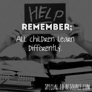 All Children Learn Differently | Special Education Resource