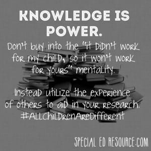 Knowledge Is Power   Special Education Resource