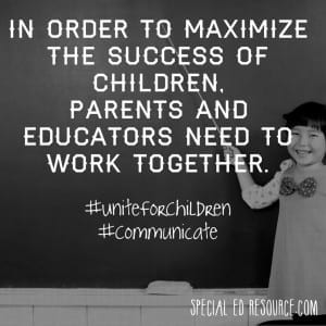 Parents And Educators Work Together | Special Education Resource