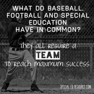 Special Education Requires A Team