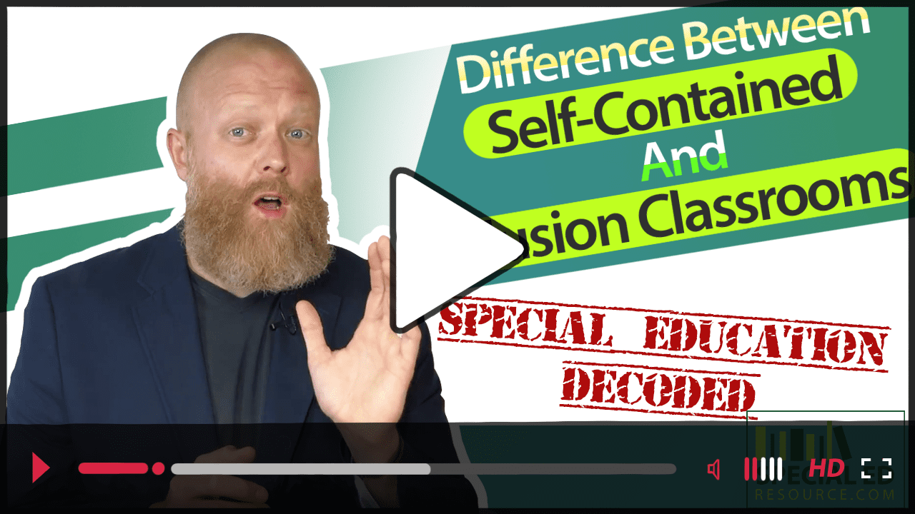 Difference Between Self-Contained And Inclusion Classrooms