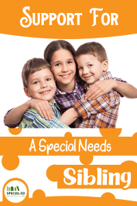 3 siblings embracing support for a special needs sibling